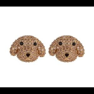 Eye Candy CZ Poodle Pink Stone Stud Earrings